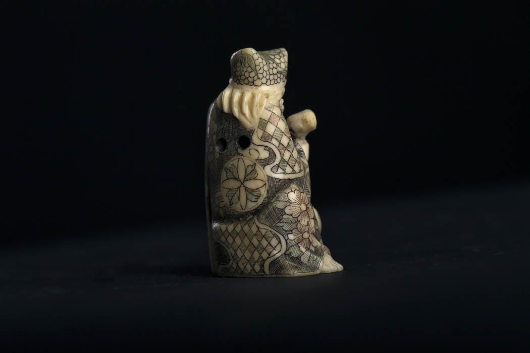 www.zenantique.com, antique buddha statues for sale  KT 25 ivory Netsuke