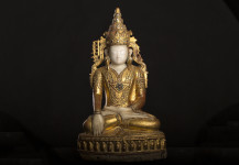 Antique crowned Buddha statue, Shan, 18.th. cent. No. KT 13, Price 7.700 Euro