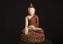 Antique Buddha statue, Shan style,18.th. centery, No. KT 15,  Height 46 cm. Price 2.600 euro.
