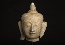 Antique Buddha head, Shan style,18.th. centery, No. KT 22, Price 2.000 Euro
