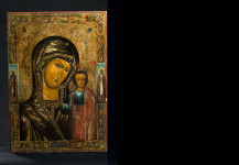 Large Russian church icon – Mother of God Kazanskaja. Size: 87 cm x 60 cm