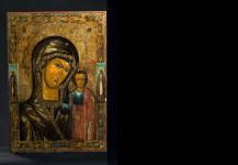 Large Russian church icon – Mother of God Kazanskaja. Size: 87 cm x 60 cm