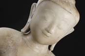 Antique Alabaster Buddha statues marble
